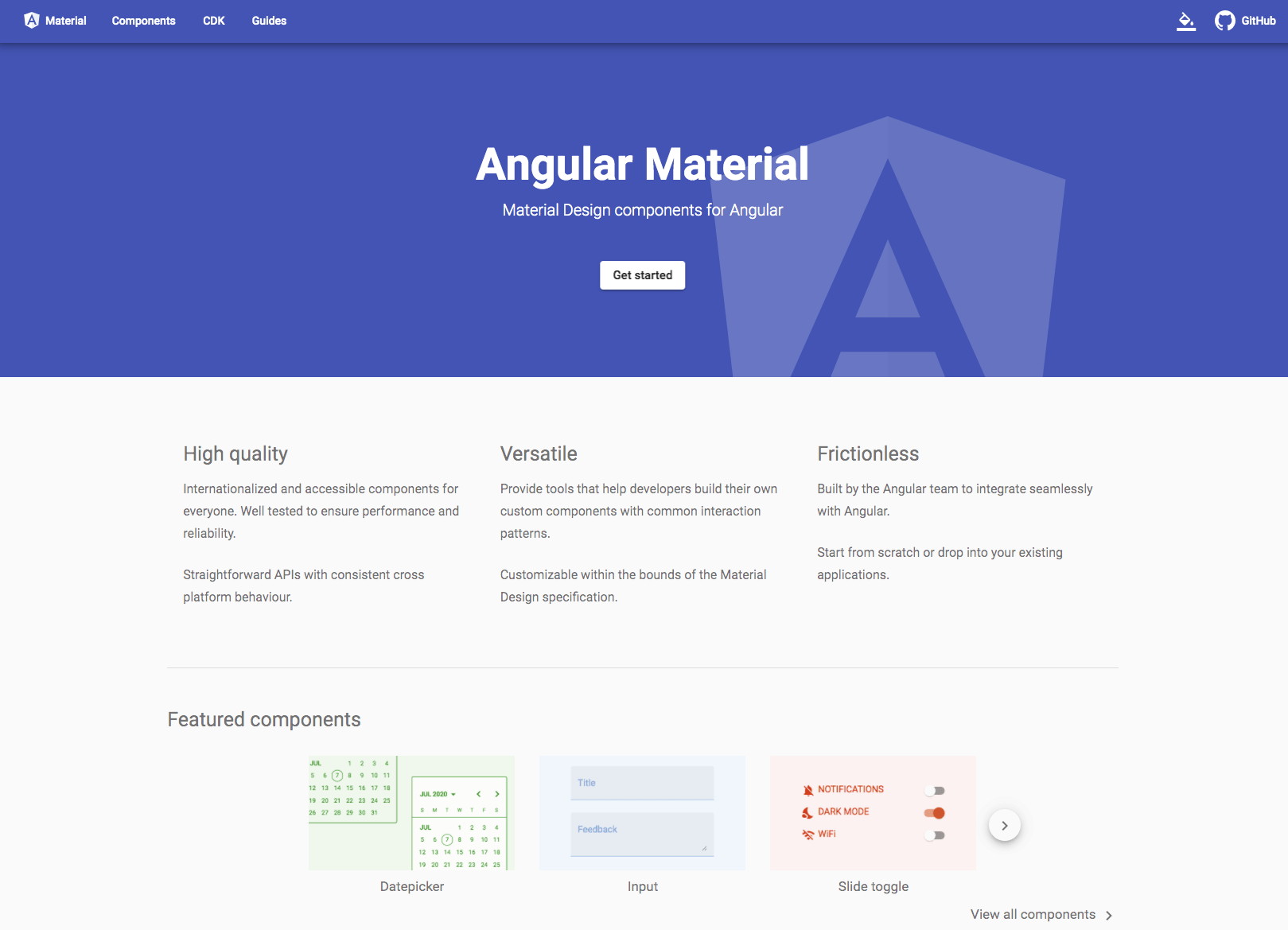 Using elevation helpers | Angular Material
